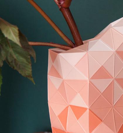 Pink vase detail